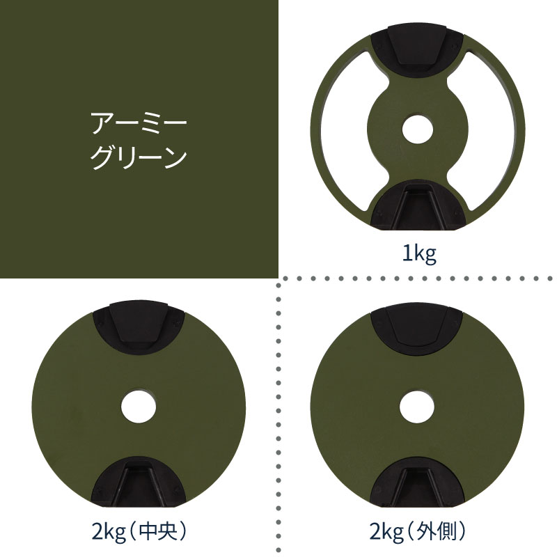 フレックスベルプレートアーミーグリーン3種