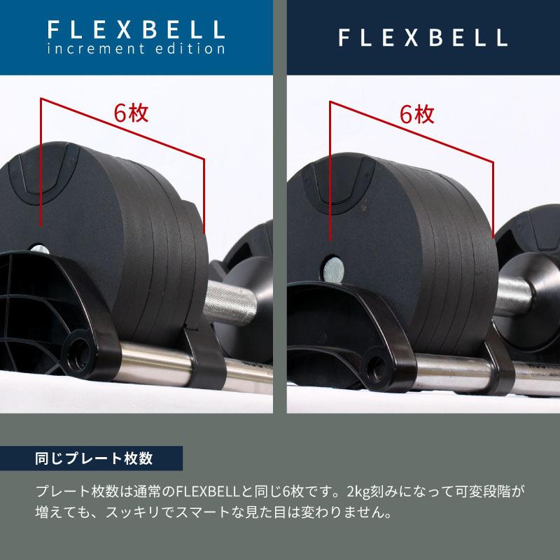 今までのFLEXBELLと同じプレート枚数 片側6枚
