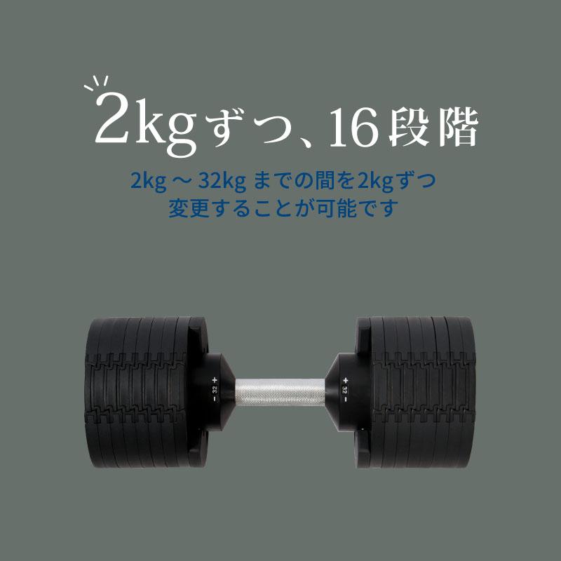 2kgずつ、16段階