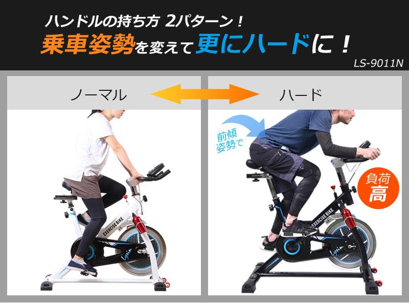 トレーニング ジム スピンバイク 乗車姿勢