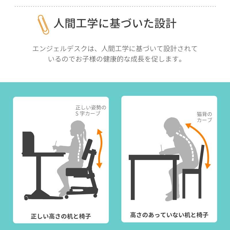 椅子 学習机 高さ調節可能 脊柱後退の予防 正しい姿勢 エンジェルチェア エンジェルチェア写真6