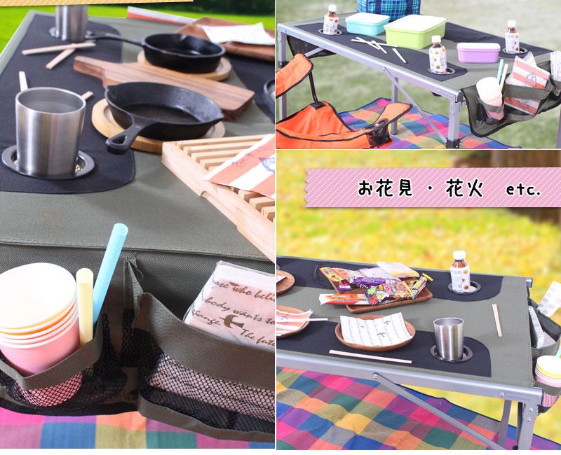 【ls-odtb01】簡単折りたたみテーブル,使用イメージ写真2
