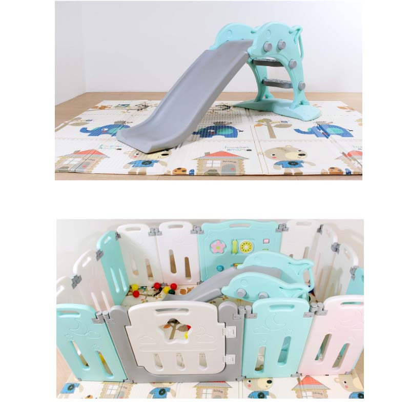 キッズスライダー イルカのすべり台 すべり台 室内 室外 簡単設置 組立て式 LS-SLIDE01かわいい 子供用遊具室内遊具 赤ちゃん 遊具 ベビーサークル・ベビーマットと