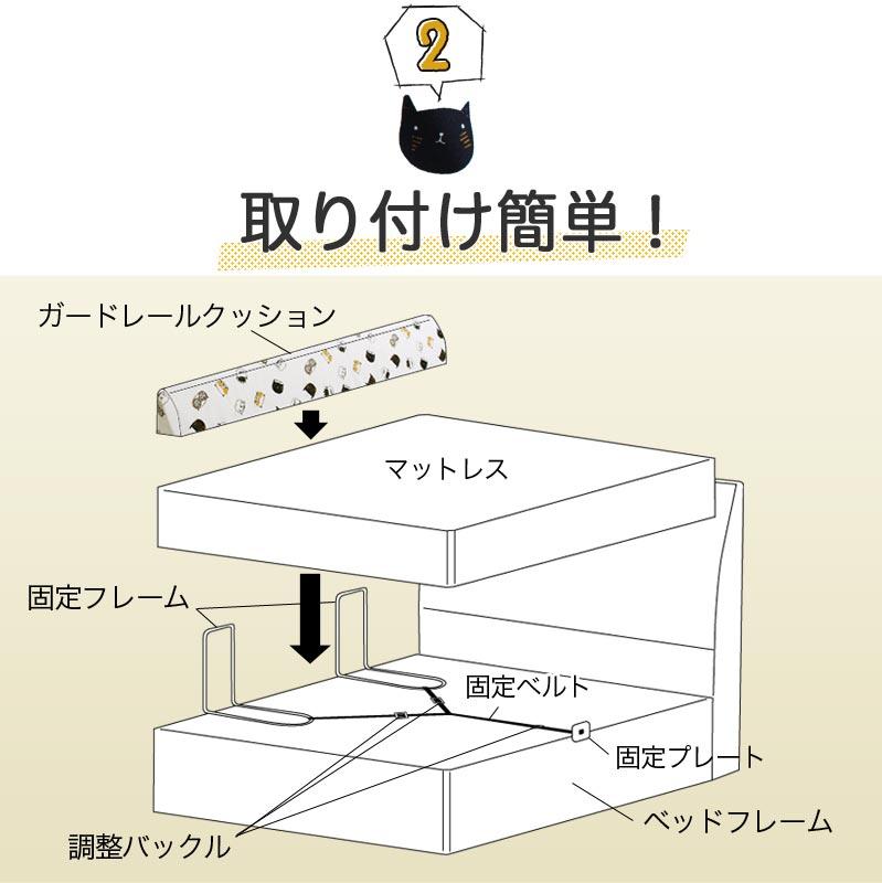 クッションベッドガード ノーマル100 ショート 【2】取り付け簡単!