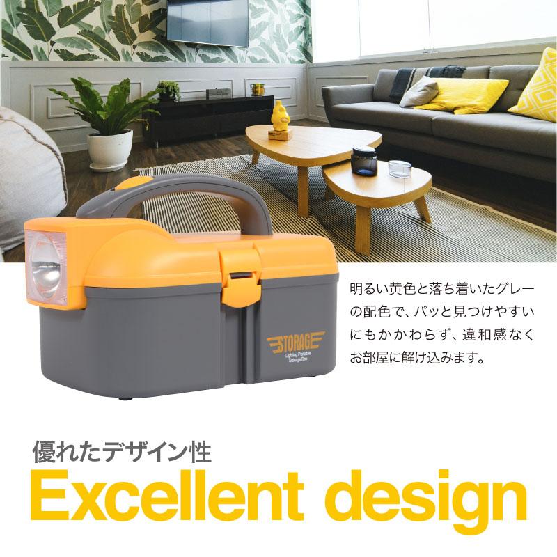 優れたデザイン性。明るい黄色と落ち着いたグレーの配色で、違和感なくお部屋に解け込みます